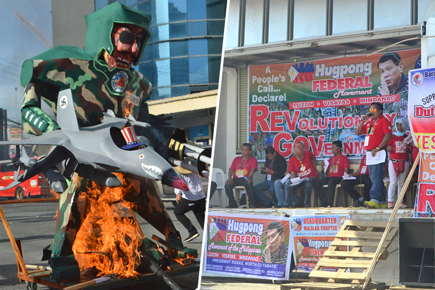 In Duterte's hometown, two opposing rallies show might on Bonifacio day