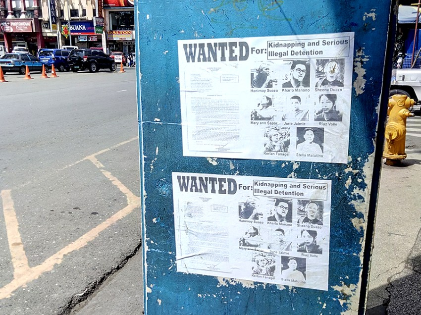Posters in Davao link activists to charges long dismissed by court
