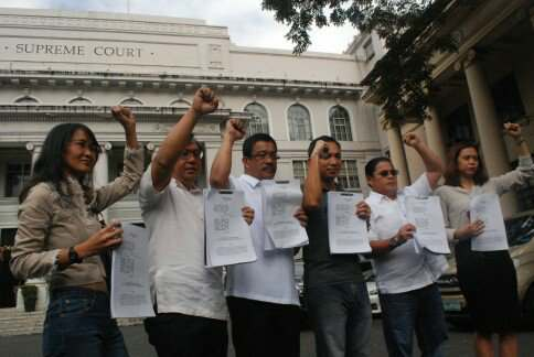 Makabayan bloc files petition at SC vs. Train law