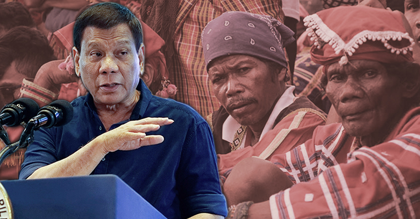 Lumad leaders doubt real development in Duterte's P100M-development plan for Mindanao tribes