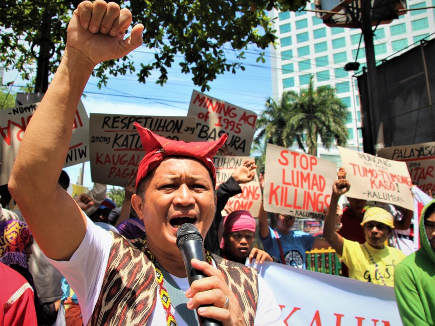 Lumad commemorate World IP day protesting attacks on their communities, martial law