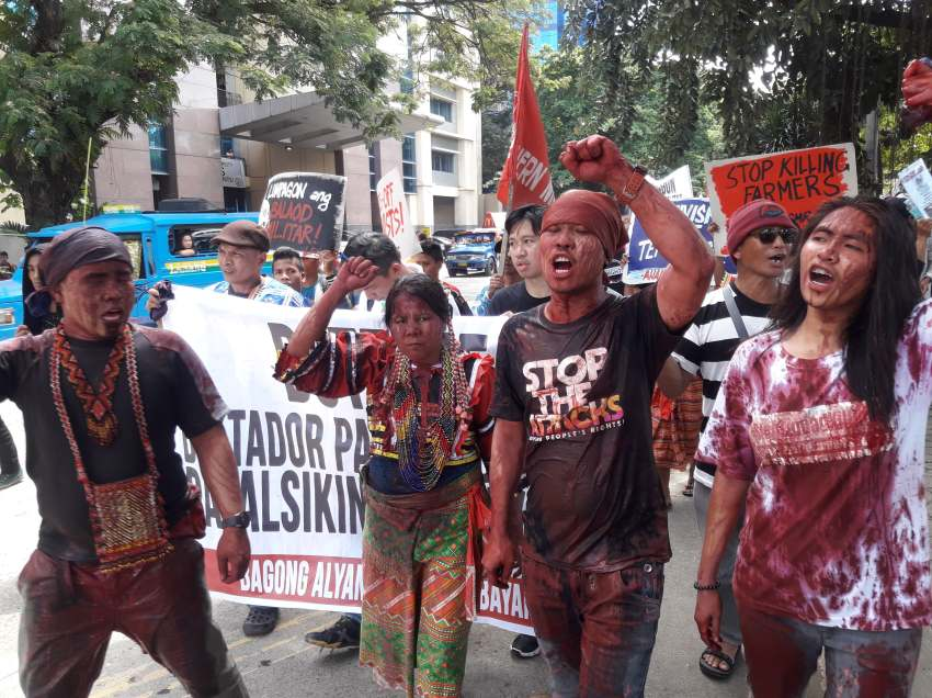 Peasant, IP rallies in Mindanao cities cry: End Martial Law