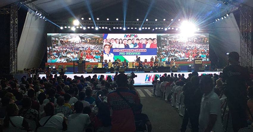 HNP senatorial bets join Davao grand rally days before May polls