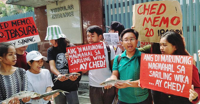 CHED's memo manifests hypocrisy, anti-Filipino, groups say