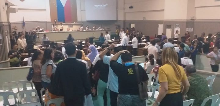 City Council suspends session after quake strikes city