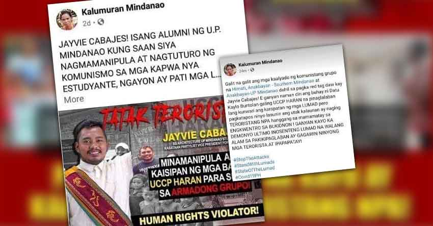 Dubious lumad FB page on red-tagging spree