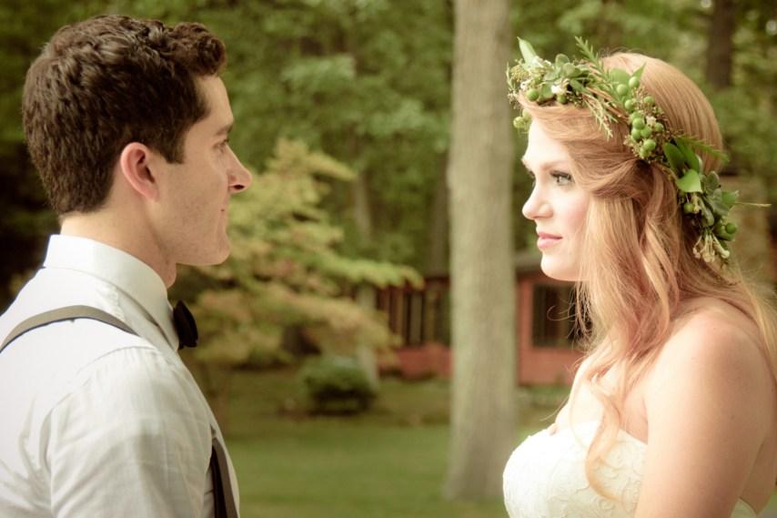 Matt and Jen's first glimpse.