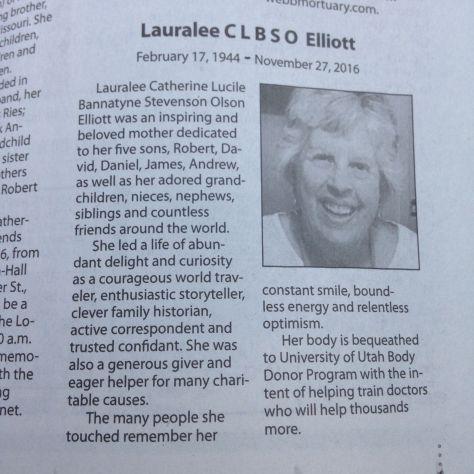 Lauralee's Obituary
