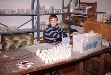 Dave hustling candle business