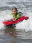 Emma body boarding
