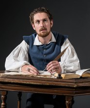 "Actor playing Will Shagspeare in ""Equivocation"" publicity photo 4/25/14"