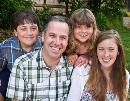 Flautist/Camerata Pacifica Founder Adrian Spence & his children 2011 Santa Barbara, CA