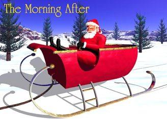 Santa takes a snooze after a long holiday night