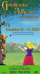 """Goldilocks, 3 Bears, and the some!"" poster design - Santa Barbara Panto"
