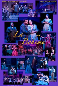 "Photo Poster from ""La Bohème"" - Music Adacemy of the West"