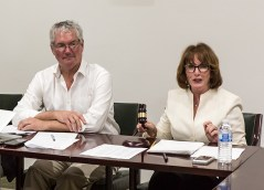 Stephen Sharp, Opera Santa Barbara General director and Sandra Urquhart, Board President