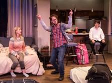"Stephanie Burden (Melody), Adam Silver (Liam) and Cory Kahane (Jonah) - Ensemble Theatre Co. ""Bad Jews"" 4/13/16 Alhecama Theatre"