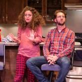 """Eden Malyn (Daphna) and Adam Silver (Liam) - Ensemble Theatre Co. """"Bad Jews"""" 4/13/16 Alhecama Theatre"""
