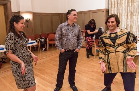 Fenlon Lamb, Kostis Protopapas & tenor Jason Slayden try out some interesting poses