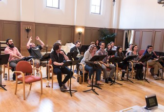 "Opera Santa Barbara - cast of ""Gianni Schicchi"" rehearse 3/30/16 Weinman Hall, MAW"