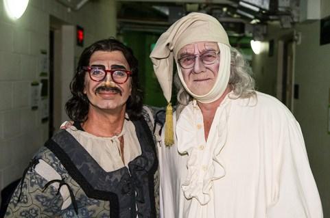 The fake Buoso / Gianni Schicchi (Stephano de Peppo) and the real Buoso (Brooks Firestone).