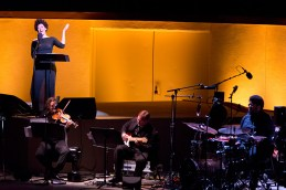 """Ojai Music Festival - Member of ICE & soprano Julia Bullock """"Josephine Baker: A Portrait"""" by Tyshawn sorey, piano and percussion 6/11/16 Libbey Bowl"""