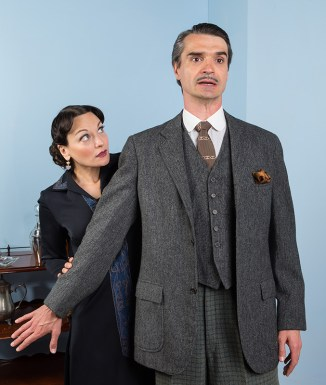 Julie Granata (Jane Banbury) & Matthew Floyd Miller (Willy Banbury) - Ensemble Theatre Company 6/1/16 New Vic Theatre