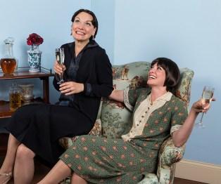 Julie Granata (Jane Banbury) & Paige Lindsey White (Julia Sterroll) - Ensemble Theatre Company 6/1/16 New Vic Theatre