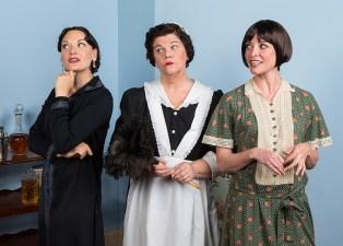 Julie Granata (Jane Banbury), Mary-Pat Green (Saunders) & Paige Lindsey White (Julia Sterroll) - Ensemble Theatre Company 6/1/16 New Vic Theatre