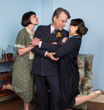 Paige Lindsey White (Julia), J. Paul Boehmer (Maurice) & Julie Granata (Jane Banbury) - Ensemble Theatre Company 6/1/16 New Vic Theatre