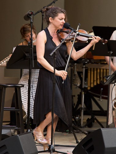 "Ojai Music Festival - composer, singer & violinist Carla Kihlstedt - ""At Night We Walk in Circles and Are Consumed by Fire"" 6/10/16 Libbey Bowl"