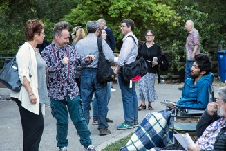Ojai Music Festival - 6/11/16 Libbey Bowl- music director Peter sellars loves feedback from the audience 6/9/16 Libbey Bowl