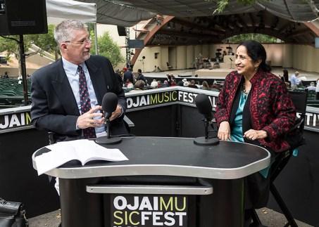 Ojai Music Festival - Aruna Sairam gives more insight into Indian classical music 6/11/16 Libbey Bowl