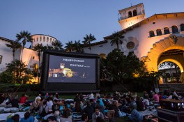 "UCSB Arts & Lectures showing of ""The Maltese Falcon"" 7/7/16 Santa Barbara Courthouse Sunken Gardens"