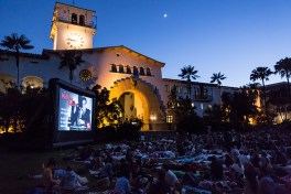 """UCSB Arts & Lectures showing of """"The Maltese Falcon"""" 7/7/16 Santa Barbara Courthouse Sunken Gardens"""