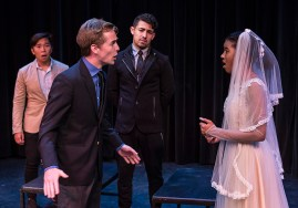 """Claudio denounces Hero at the altar in """"Much ado About Nothing"""" 8/15/16 UCSB Studio Theater"""