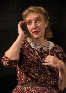 "Victoria Finlayson (Amanda Wingfield) - publicity photo for Lit Moon Theater Company's ""The Glass Menagerie"" 8/20/16 Porter Theater, Westmont College"