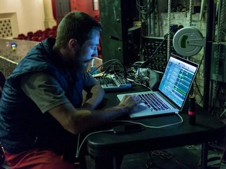 MArtin Durov works on the FUTURE/PERFECT score 9/5/16 Lobero Theatre
