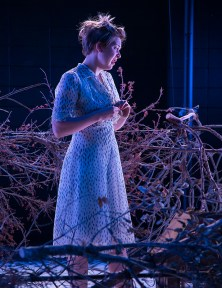 "Paige Tautz as Laura in ""The Glass Menagerie"" - Lit Moon Theatre Company 8/31/16 Porter Theater, Westmont College"