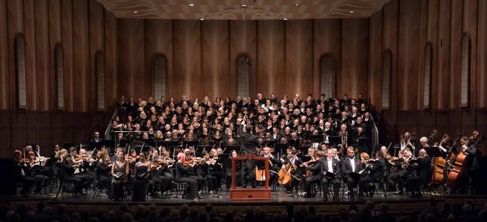 "Santa Barbara Symphony, Santa Barbara Choral Society, Quire of Voices, UCSB & San Marcos High performing ""Ode to Joy"" 10/15/16/ Granada Theatre"