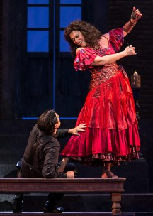 Leann Sandel-Pantaleo as Carmen and Harold Meers as Don José - Opera Santa Barbara 11/2/16 Granada Theatre