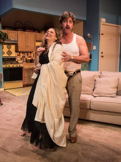 """Heather Ayers (Faye Medwick) & Thomas Vincent Kelly (Leo Schneider) - Ensemble Theatre Co. production of Neil Simon's """"Chapter Two"""" 11/30/16 New Vic Theatre"""