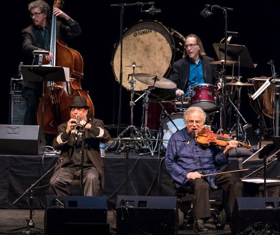 "Jim Guttman, Frank London, Itzhak Perlman and Grant Smith - ""In the Fiddler's House"" 20th Anniversary concert - UCSB Arts & Lectures 1/23/17 The GranadaTheatre"
