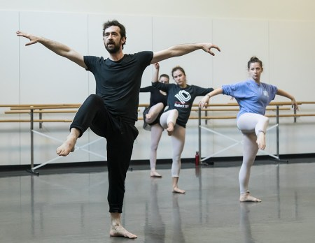 UCSB Dance Dept. students in a Ballet BC masterclass 2/2/17 UCSB TD 1501
