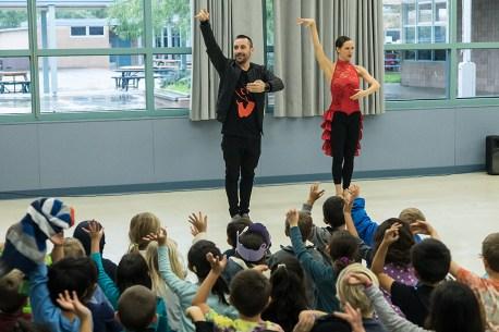 Ballet Hispanico School Outreach - UCSB Arts & Lectures/Viva el Arte! 2/10/17 Hollister Elementary School, Santa Barbara