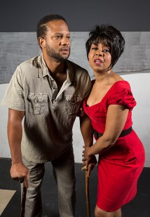"""Elijah Rock is Porgy and Karole Foreman is Bess in Ensemble Theatre Company's """"Porgy and Bess"""" 1/29/17 the New Vic Theatre"""