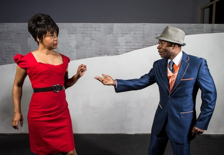 """Karole Foreman is Bess and Frank Lawson is Sportin' Life in Ensemble Theatre Company's """"Porgy and Bess"""" 1/29/17 the New Vic Theatre"""