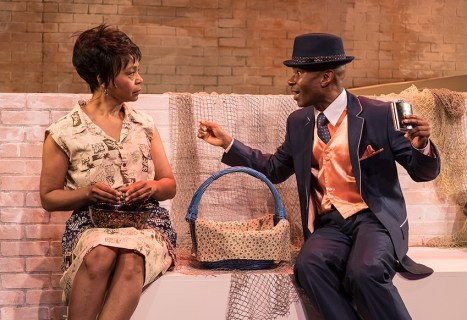 """Karole Foreman (Bess) and Frank Lawson (Sportin' Life) in Ensemble Theatre Company's """"Porgy and Bess"""" 2/8/17 the New Vic Theatre"""
