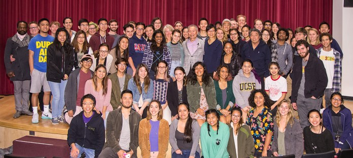 George Takei and audience - UCSB Arts & Lectures and the UCSB MutiCultural Center 2/15/17