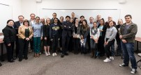 Dr. Siddhartha Mukherjee with UCSB faculty and students 2/23/17 UCSB Life Sciences 4301